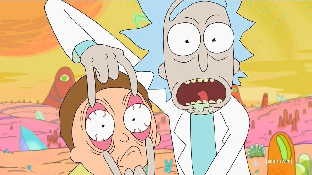 Captura de un capítulo de Rick y Morty. Frases de Rick y Morty